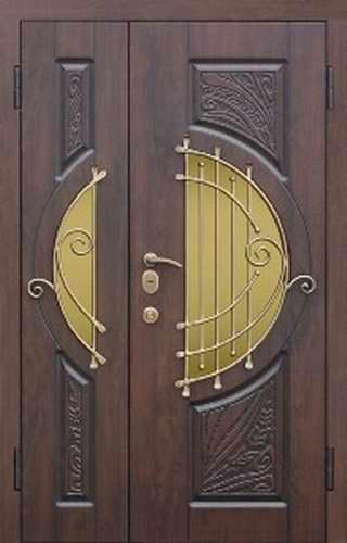 нестандартные входные двери со стеклом